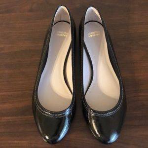 Patent leather flats.